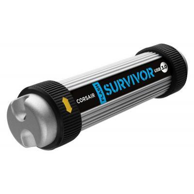 Corsair USB flash drive: Survivor, 16 GB, USB 3.0 - Aluminium, Zwart