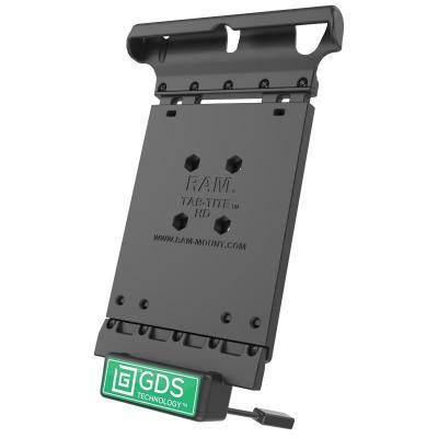 RAM Mounts 5-12VDC, 353.8g, Composite, Black Mobile device dock station - Zwart