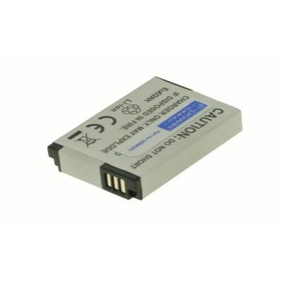 2-power batterij: Digital Camera Battery, Li-Ion, 3.7V, 1050mAh, Grey - Grijs