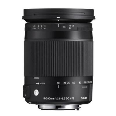 Sigma camera lens: 18-300mm F3.5-6.3 DC MACRO OS HSM C - Zwart