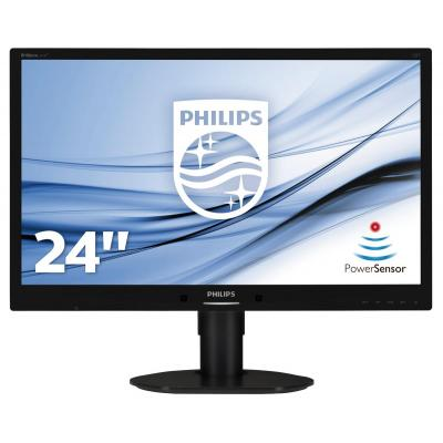 Philips monitor: Brilliance LCD-monitor met LED-achtergrondverlichting 241B4LPYCB/00 - Zwart