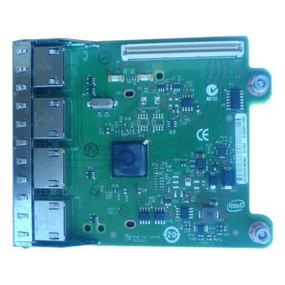 Dell netwerkkaart: Intel Ethernet i350 QP 1Gb Network Daughter Card - Kit - Groen