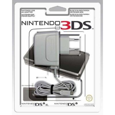 Nintendo spel accessoire: Power Adapter for 3DS/DSi/DSi XL - Grijs