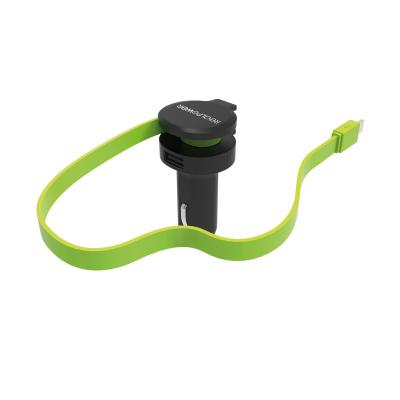 RealPower car charger cable L Oplader - Zwart, Groen