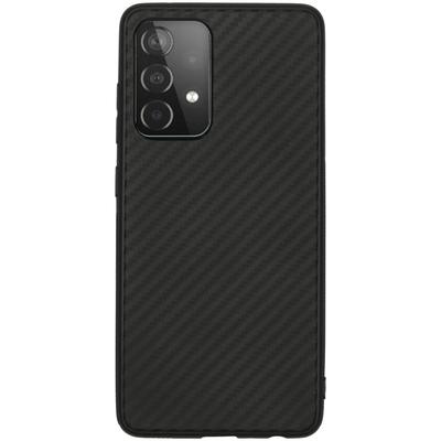 CP-CASES Carbon Softcase Backcover Galaxy A52 (5G) / A52 (4G) - Zwart - Zwart / Black Accessoire
