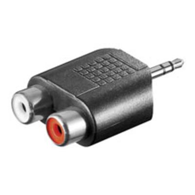 Goobay 3.5mm audio adaptor Kabel adapter - Zwart