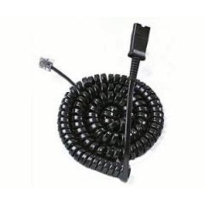 Plantronics telefoon kabel: U10-SE - Zwart