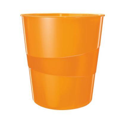 Leitz prullenbak: WOW Waste Bin - Oranje