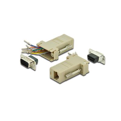 Digitus Adaptor, DB9, RJ45, Modular DB9 M, RJ45 F Kabel adapter - Beige