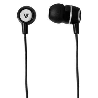 V7 HA110-BLK-12EB Headset - Zwart