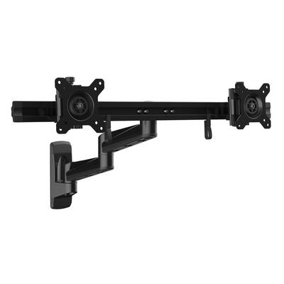 """StarTech.com Dual monitor arm scharnierende muurbeugel voor twee VESA 15""""-24"""" schermen Monitorarm - Zwart"""