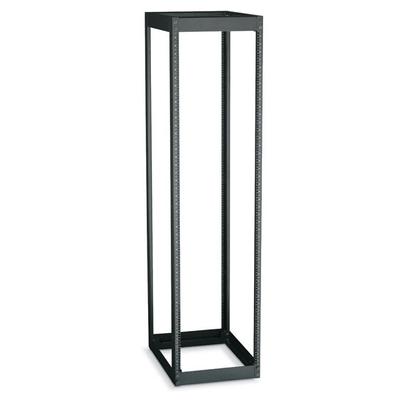 Black Box 4-Post, 42U, black Rack - Zwart