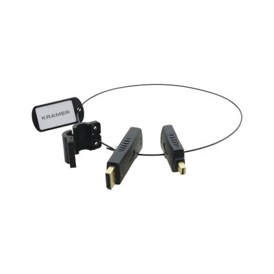 Kramer Electronics DisplayPort (M) to HDMI (F), Mini DisplayPort (M) to HDMI (F) Kabel adapter - Zwart