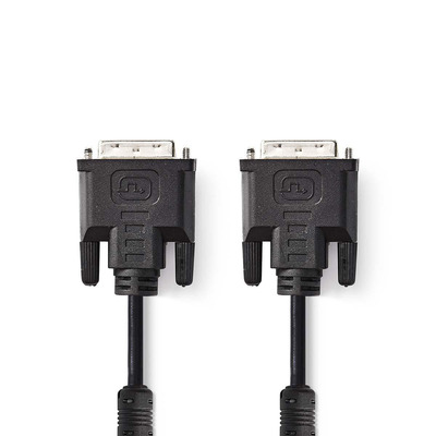 Nedis DVI-Kabel, DVI-I 24+5-Pins Male - DVI-I 24+5-Pins Male, 2,0 m, Zwart DVI kabel