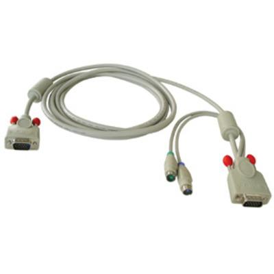 Lindy KVM kabel: Combined KVM cable, 5m - Grijs