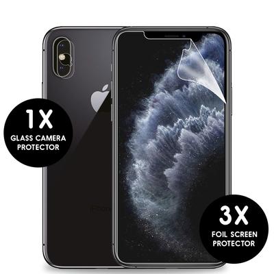 Imoshion Screenprotector Folie 3Pack + Camera Protector iPhone Xs / X - Screenprotector Accessoire