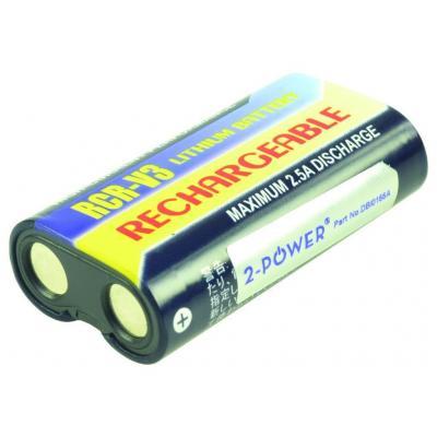 2-power batterij: Digital Camera Battery, Li-Ion, Black/Yellow - Zwart, Geel