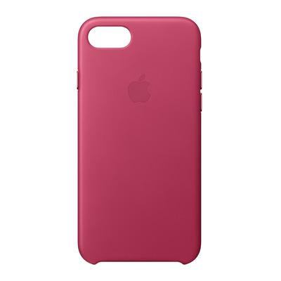 Apple mobile phone case: Leren hoesje voor iPhone 8/7 - Fuchsiaroze