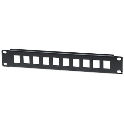 "Intellinet Patch Panel, Blank, 10"", 1U, 10-Port, Black Patch panel accessoire - Zwart"
