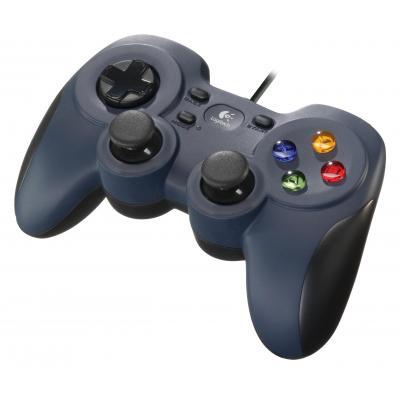 Logitech game controller: F310 - Zwart, Blauw, Multi kleuren