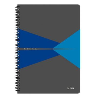 Leitz schrijfblok: Office A4 ruled, 90 p, Cardboard, 225 x 12 x 297 mm, 570 g - Blauw, Grijs