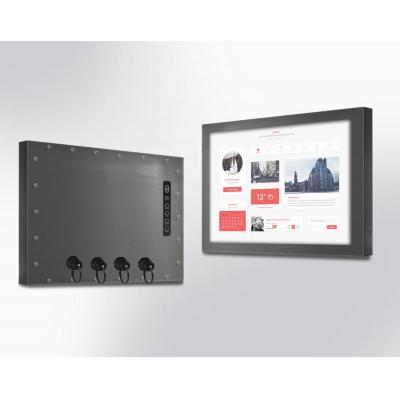 "Winsonic IP67 Chassis, 43.18 cm (17"") LCD monitor, 1280 x 1024, LED 250 nits, VGA input Public display - Zwart"