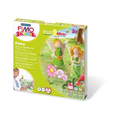 Staedtler kinder modellering verbruiksartikel: FIMO kids 8034 - Crème, Groen, Oranje, Wit