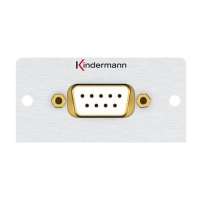 Kindermann 7444000420 Wandcontactdoos - Aluminium