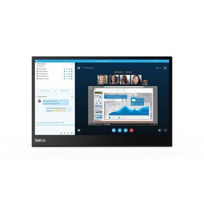 "Lenovo ThinkVision M14 14"" FHD IPS USB-C Monitor - Zwart"
