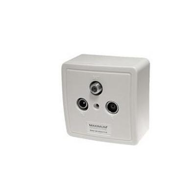 Maximum inbouweenheid: Wall outlet MX 610 SAT/TV/Radio - White - Wit