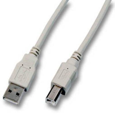 EFB Elektronik 3m, USB A - USB B, M/M USB kabel - Grijs