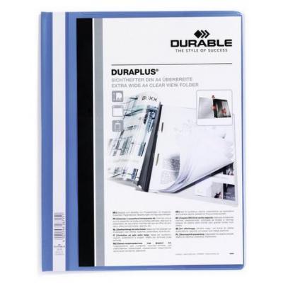 Durable map: DURAPLUS - Blauw, Transparant