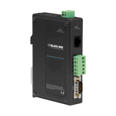 Black Box 1xDB9, 1xRJ-45, 81 x 119 x 30mm, 100g, Black Seriele server - Zwart