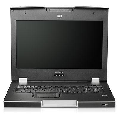 Hewlett packard enterprise rack console: HP TFT7600 G2 KVM Console Rackmount Keyboard DE Monitor - Zwart