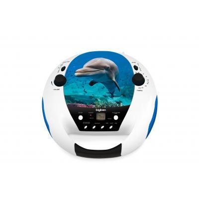 Bigben interactive CD speler: Draagbare radio / CD speler met dolfijnendesign - Multi kleuren