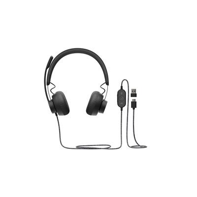 Logitech Zone Wired UC Headset - Zwart