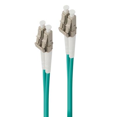 ALOGIC 1m LC-LC 40G/100G Multi Mode Duplex LSZH Fibre Cable 50/125 OM4 Fiber optic kabel - Turkoois