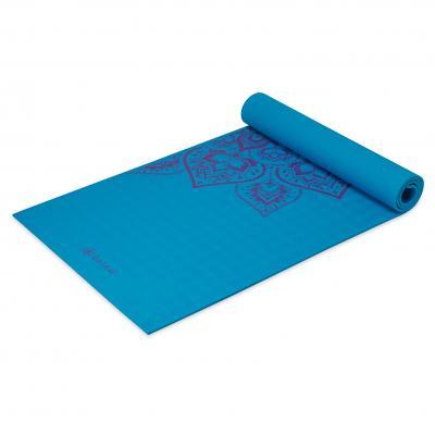 Gaiam fitness, gymnastiek & gewichtstraining: Studio Select Mandala Sticky-grip - Yogamat - 5mm - Blauw