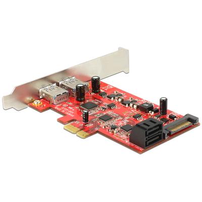 DeLOCK PCI Express Card > 2 x external USB 3.0 + 2 x internal SATA 6 Gb/s – Low Profile Form Factor .....