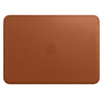 Apple laptoptas: Leren Sleeve voor 12‑inch MacBook - Zadelbruin