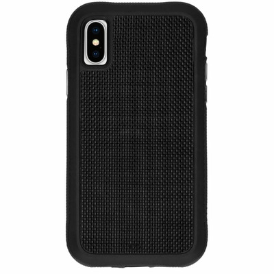 Carbon Fiber Backcover iPhone X / Xs - Zwart / Black Mobile phone case