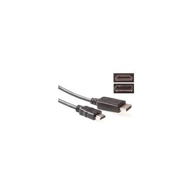 Advanced cable technology kabel: Conversion cable DisplayPort male – HDMI A maleConversion cable DisplayPort male – .....