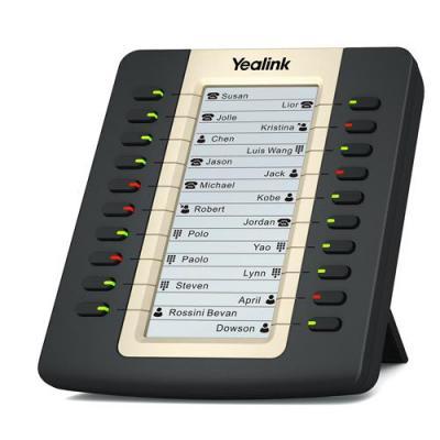Yealink ip telefoon: LCD Expansion Model for T27P/T29G, 2 x RJ-12 - Zwart