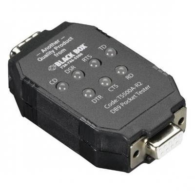Black Box DB9 PockeTester Interfaceadapter - Zwart
