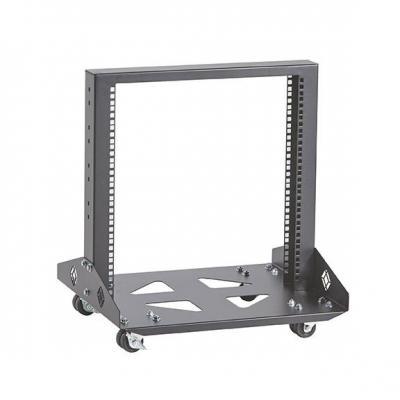 Black Box Mobile Open – 2-Post, 11U Rack - Zwart
