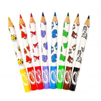 Crayola potlood: Mini Kids - 8 Dikke kleurpotloden - Veelkleurig