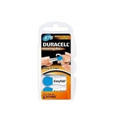 Duracell batterij: 1.4 V, zinc-air, 6 pack