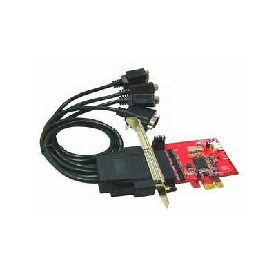 Lycom interfaceadapter: 4Ports RS232, 5V DC output Low Profile PCIe Host Adapter