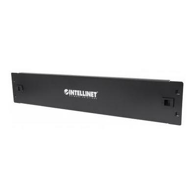 """Intellinet patch panel accessoire: 2U Cover for Unused Space in 19"""" Cabinet, Metal, Black - Zwart"""
