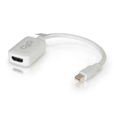 C2G 0.2m Mini DisplayPort M / HDMI F - Wit